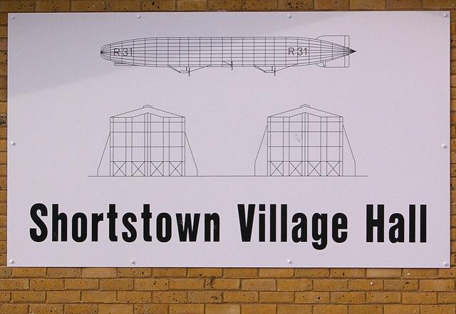Shortstown Village Hall sign