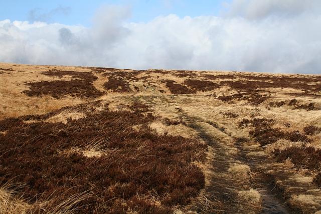 The Pennine Way Climbs Onto Heptonstall Moor
