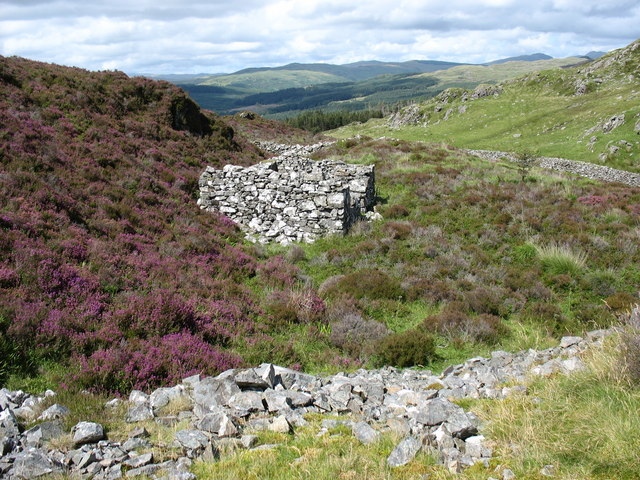 Site of old trial levels at Bwlch Goriwaered