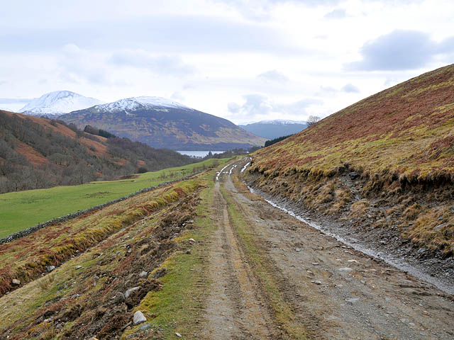 Estate road on the west side of Glen Beich