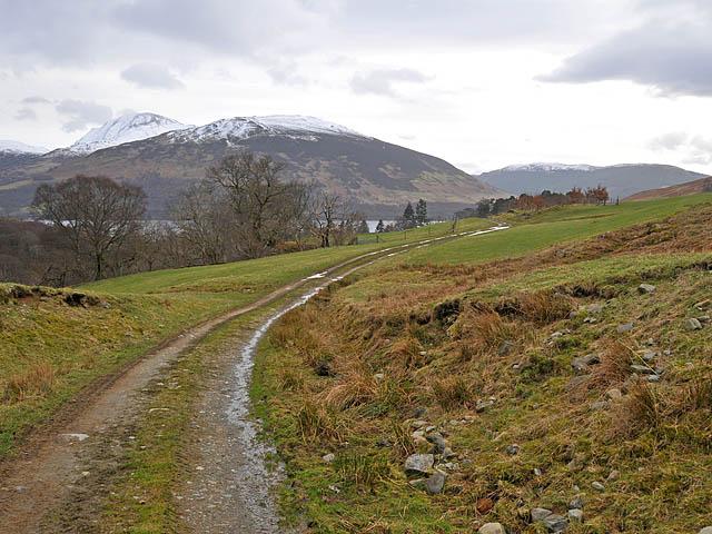 Estate road near Glenbeich Lodge