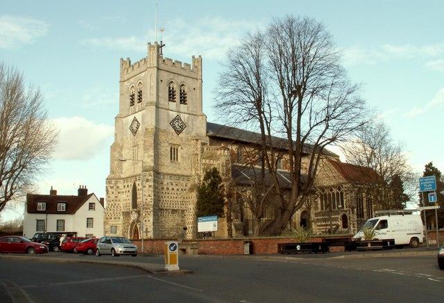 The abbey church at Waltham Abbey
