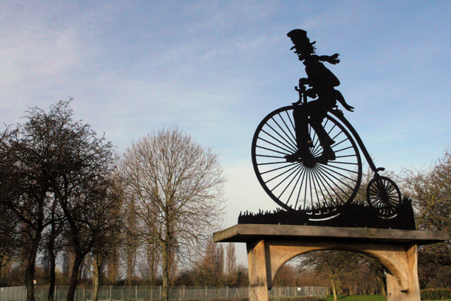 The Penny Farthing Seat, Manor Farm recreation Ground