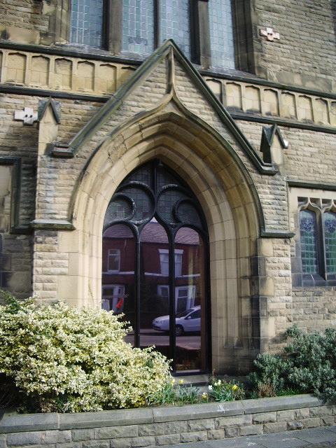 Church Road Methodist Church, St Annes-on-Sea, Doorway