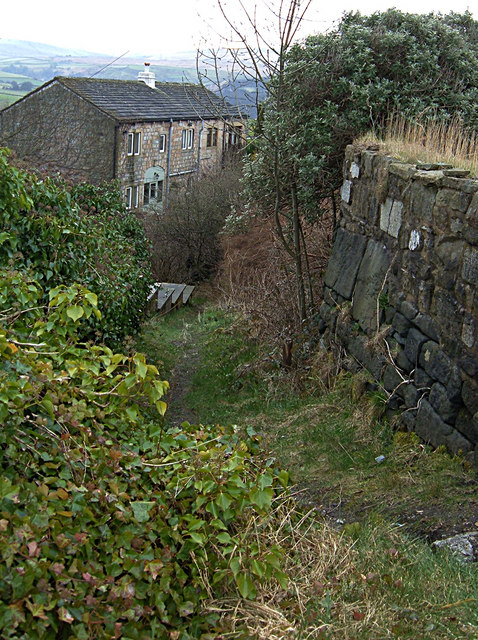 Footpath at Cross Stone, Todmorden