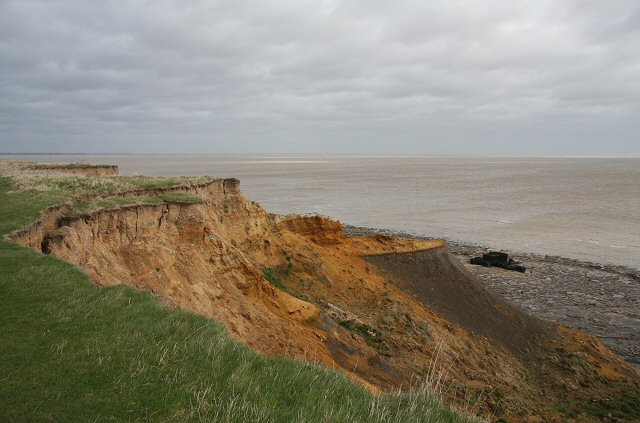 Cliff erosion at the Naze