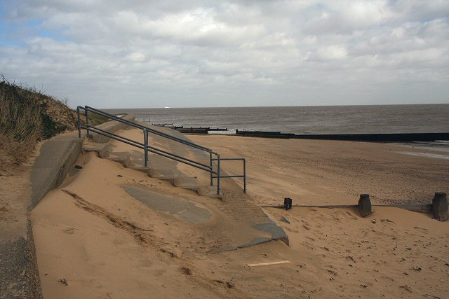 Sea defences at Walton