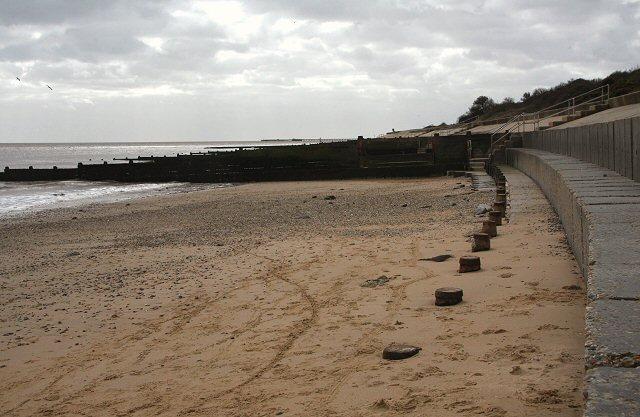 Sea defences at Walton