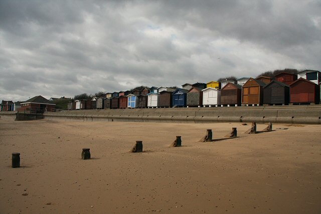 Beach huts at Walton