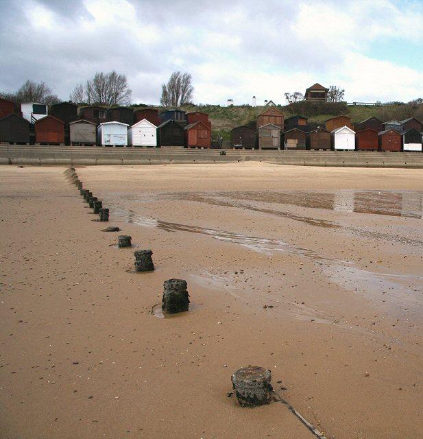 Beach huts at Walton