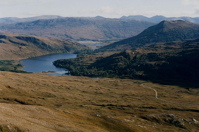 Lower slopes of Sgùrr Ban