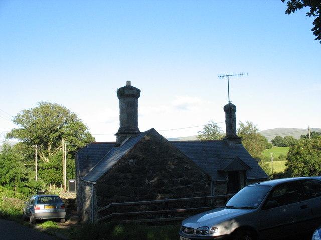 A Nannau estate cottage with its distinctive chimneys