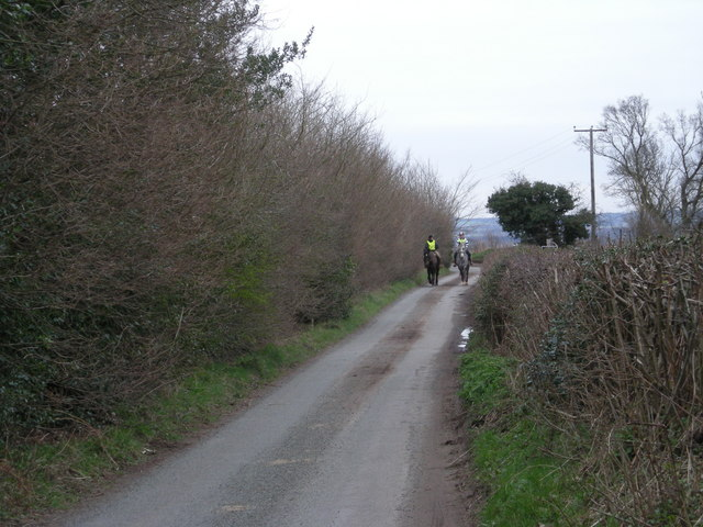Riders in Nedge Lane