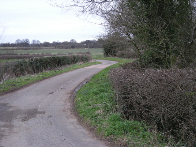 Winding lane at The Wyke