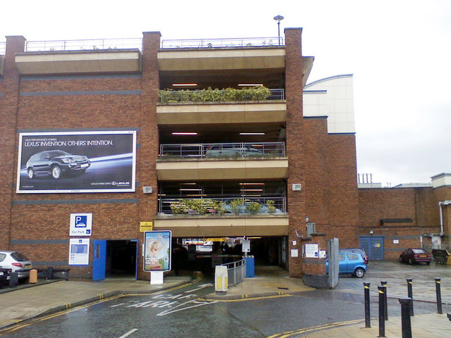 Bury town centre Mill Gate car park