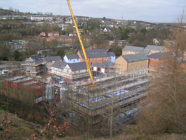 New housing estate being built