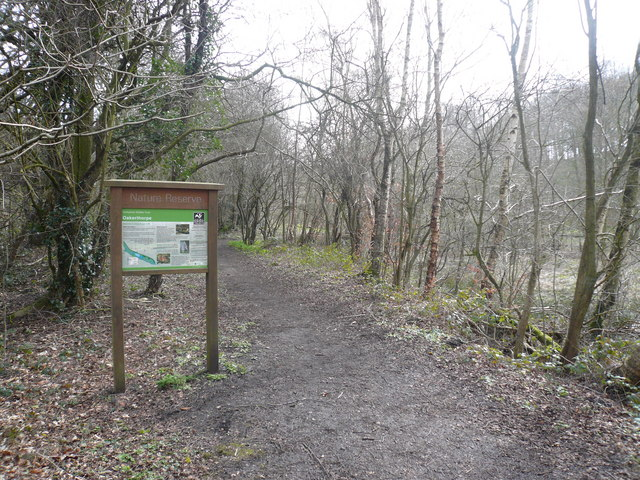 Oakerthorpe Nature Reserve - Footpath and Sign