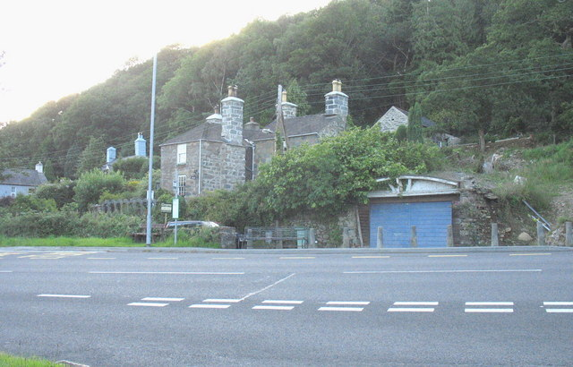 Older houses near the centre of Llanelltyd village