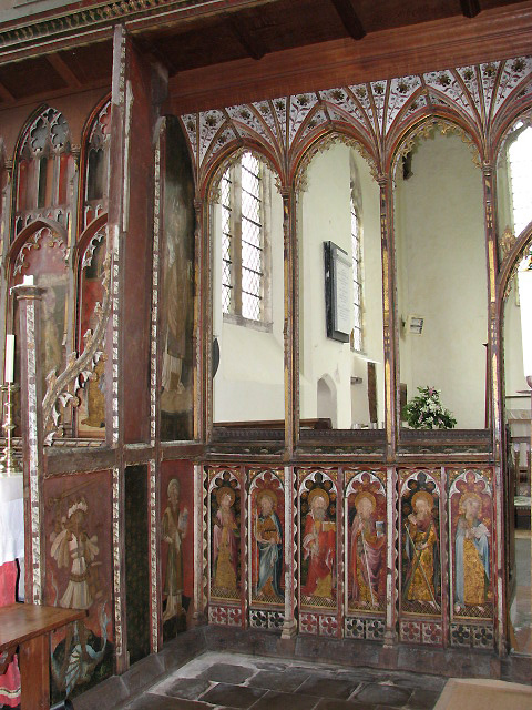 St Helen's church - rood screen detail