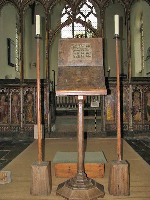St Helen's church - Cantor's desk