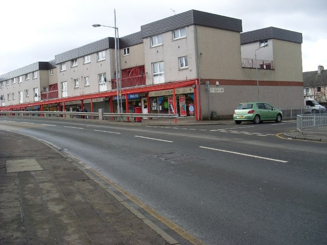 Row of shops, Kirkwood, Coatbridge
