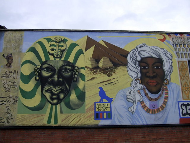 Black history mural ceridwen geograph britain and ireland for Black history mural