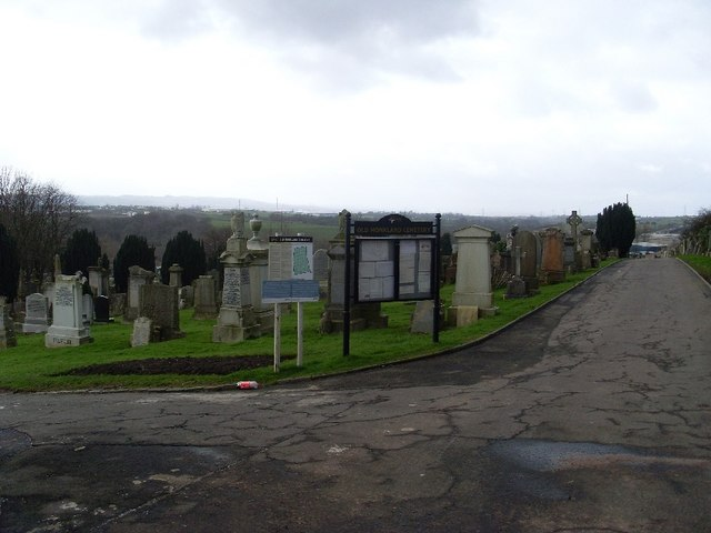 Looking into Old Monkland Cemetery