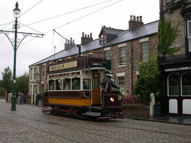 Newcastle tram at Beamish Museum