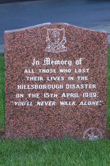 Hillsborough Memorial - 1, Middlewood Road, Hillsborough, Sheffield