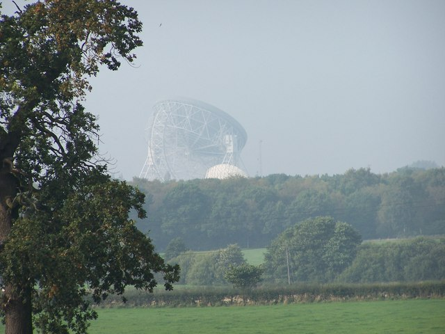 Jodrell Bank from Lower Withington