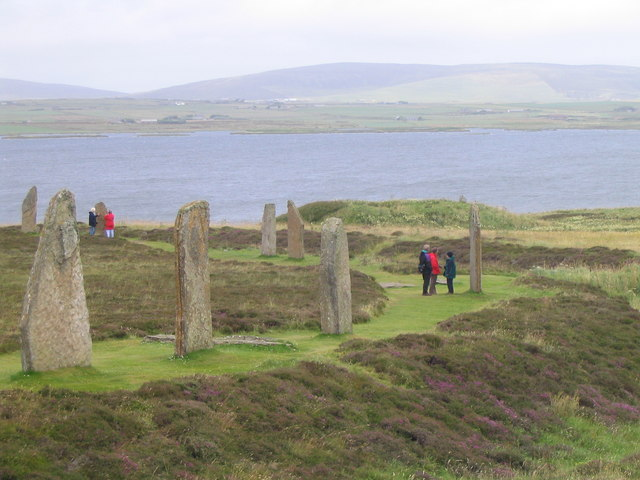 Ring of Brodgar and Loch of Harray