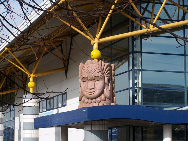 Tribal Mask on Hillsborough Leisure Centre