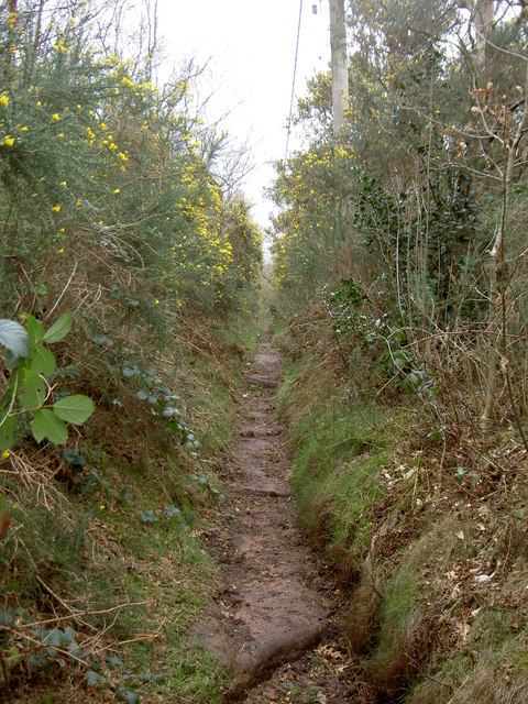 Footpath near Irby Quarry.