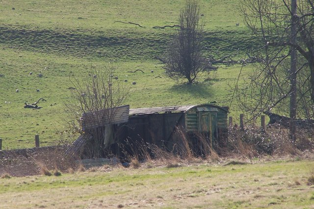 'Old' Railway Carriage used as Farm Building