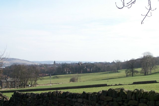 View from Stockarth Lane towards Wadsley Park Village