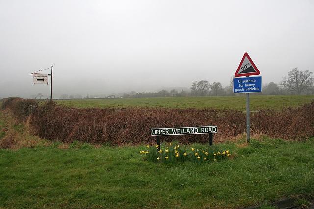 Upper Welland Road Sign