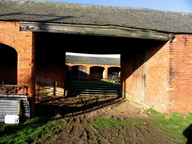 Farmyard entrance Shangton Holt Farm