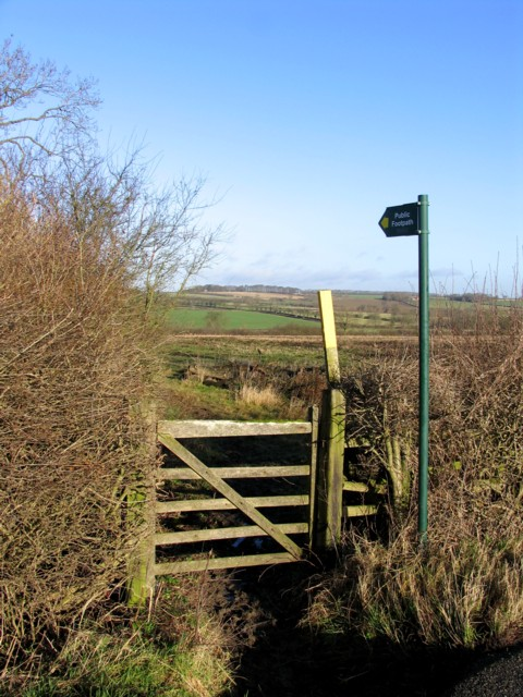 Footpath to Illston on the Hill