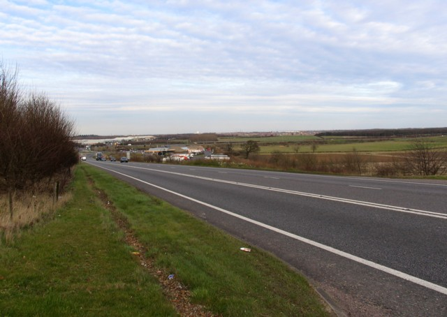A605 road from A1 to Oundle