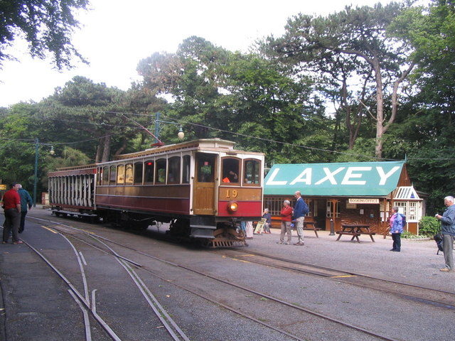 Manx Electric Railway at Laxey