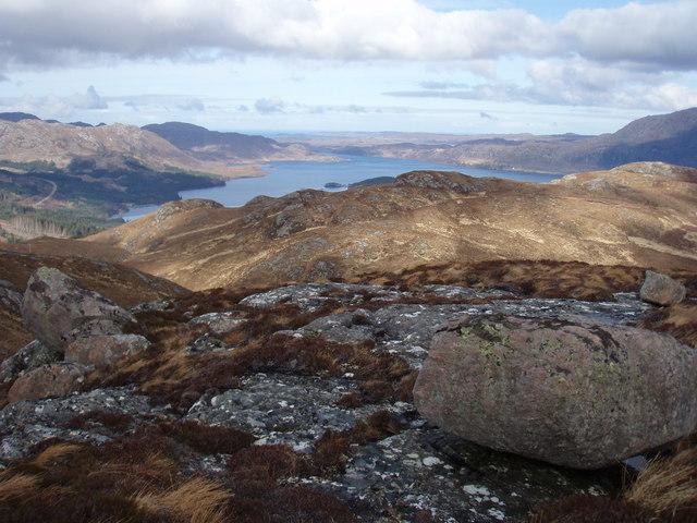 Meall Garbhaig ridge