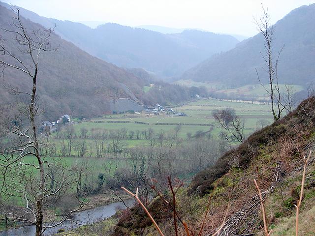 A view eastwards along Cwm Rheidol