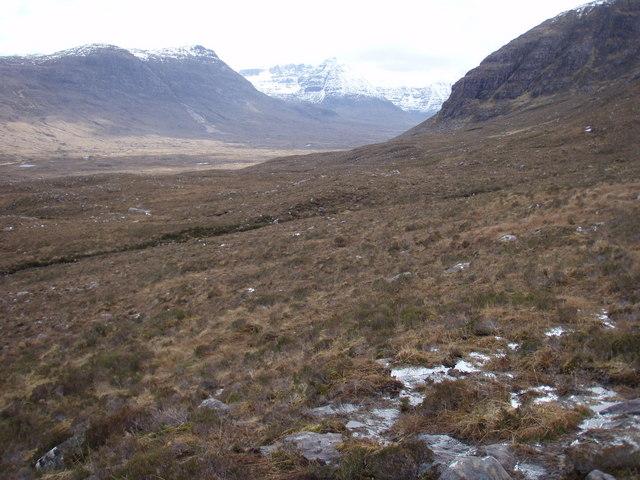 Moorland above Strath Lungard