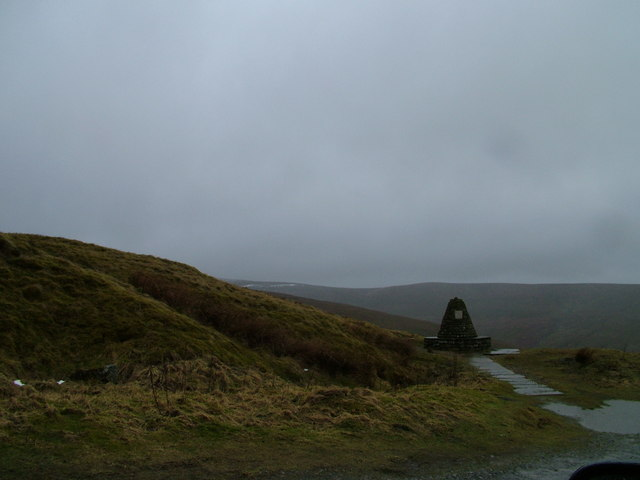 A wet day at the Millennium Cairn