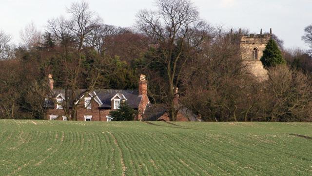 Tithe Farm and All Saints Church, North Dalton