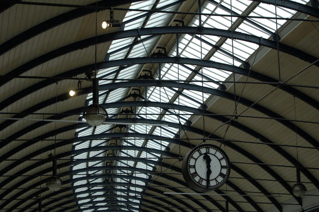 Roof and clock, Newcastle Central Station