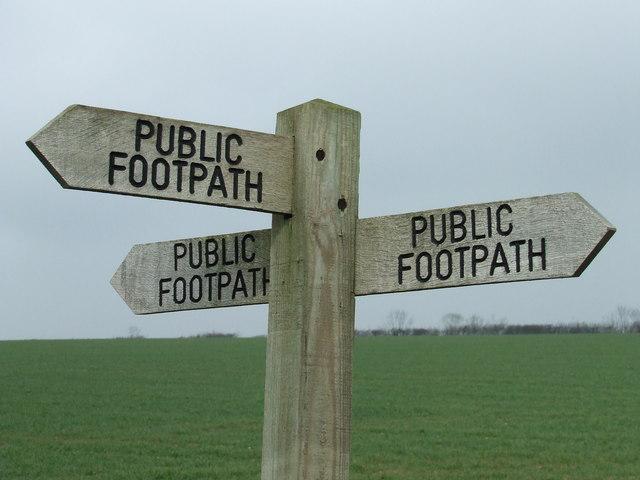 New footpath
