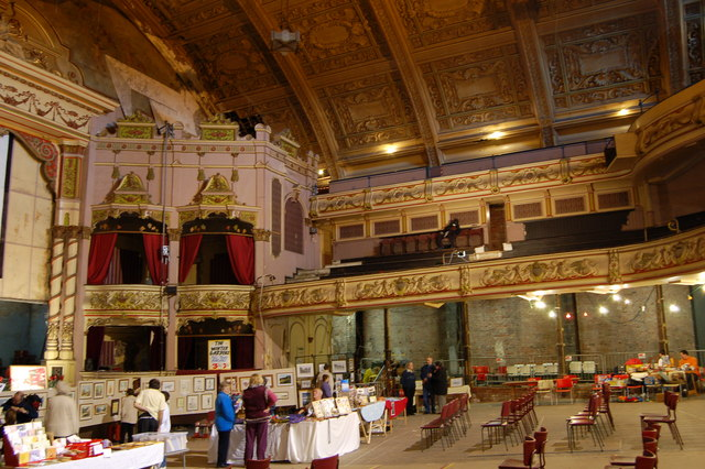 In the main theatre space, Winter Gardens, Morecambe