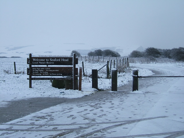 Seaford Head Nature Reserve in the Snow