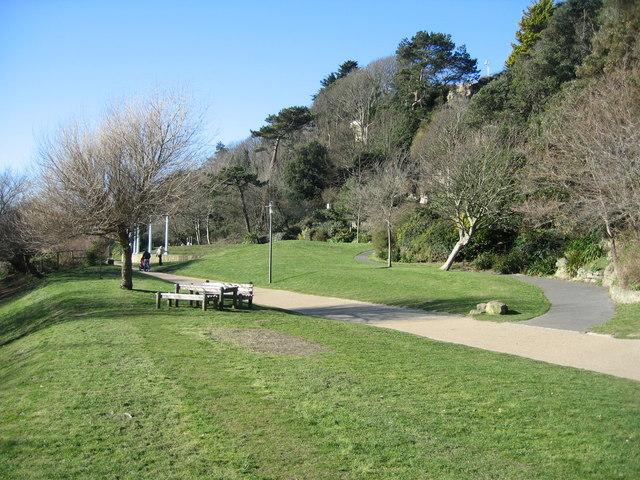 Leas Cliff footpath